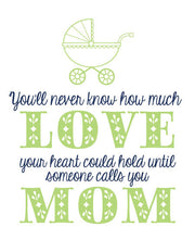 """You'll Never Know How Much Love your Heart Can Hold..."" Greeting Card - $1.50 Each (GC45AP1079)"