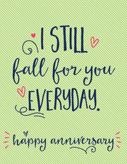 """I Still Fall For You Everyday"" Greeting Card - $1.70 Each (GC45AP1106C)"