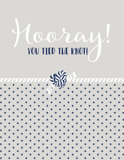 """Hooray! You Tied the Knot"" Greeting Card - $1.50 Each (GC45AP1108)"