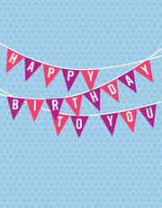 """Happy Birthday banner"" Greeting Card - $1.70 Each (GC45AP148C)"