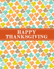 """Happy Thanksgiving"" Greeting Card - $1.50 Each (GC45AP192)"
