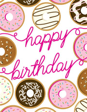 """Happy Birthday"" Donuts Greeting Card - $1.50 Each (GC45AP2022)"