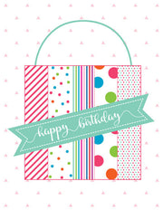 """Happy Birthday"" Greeting Card - $1.50 Each (GC45AP2026)"