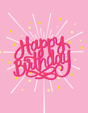 """Happy Birthday"" Starburst Greeting Card - $1.50 Each (GC45AP2041)"