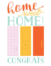 """Home sweet Home!"" Greeting Card - $1.70 Each (GC45AP3005C)"