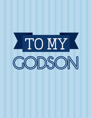 """To my godson"" Greeting Card - $1.50 Each (GC45AP3027)"