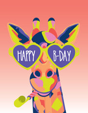 """Happy Birthday Giraffe"" Greeting Card - $1.50 Each (GC45AP3040)"