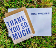 "NEW!  ** ""Thank You So Much""  - $1.90 Each (GC45AP5027)"