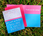 "NEW!  ** ""You Are a Great Friend""  - $1.90 Each (GC45AP5028)"