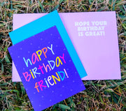 "NEW!  ** ""Happy Birthday Friend!""  - $1.90 Each (GC45AP5039)"