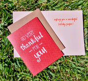 "NEW!  ** ""So Very Thankful For You""  - $1.90 Each (GC45AP5024)"