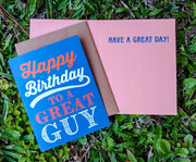 "NEW!  ** ""Happy Birthday To a Great Guy""  - $1.90 Each (GC45AP5034)"