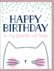 """Happy Birthday to my Favorite Cat Lady"" - Greeting Card - $1.70 Each (GC45AP4008)"
