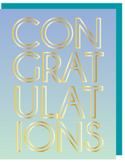 Congratulations FOIL Greeting Card with COLORED ENVELOPE - $2.00 Each (GFFR3042)
