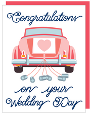 """Congratulations on your Wedding Day"" - Greeting Card with COLORED ENVELOPE - $1.70 Each (GC45AP4019)"