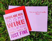 "NEW!  ** ""Roses are Red, So Is My Wine...""  - $1.90 Each (GC45AP5018)"