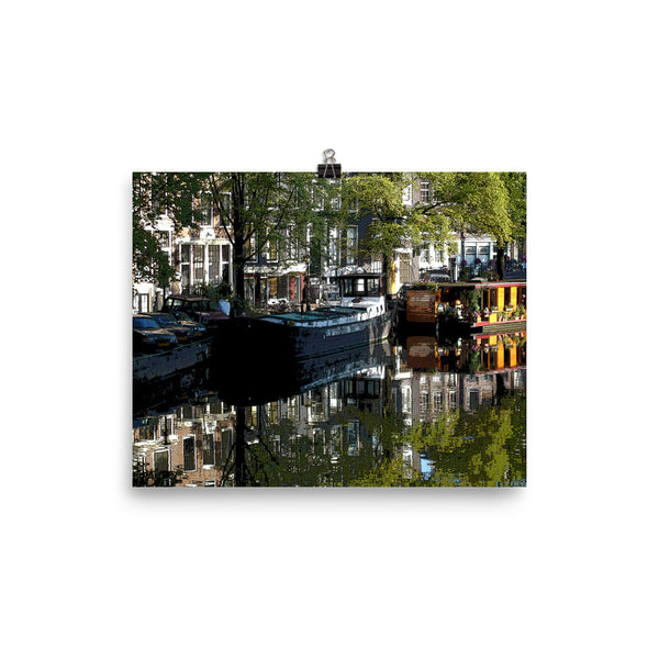 Amsterdam Canal Poster 16 x 20 Inches and 8 x 10 Inches Unframed