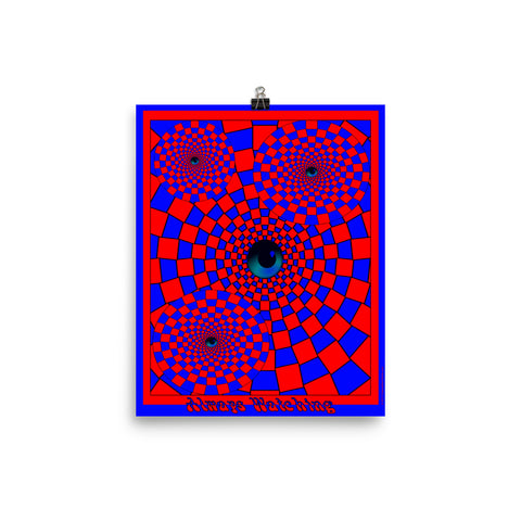 Always Watching Psychedelic Optical Illusion Poster