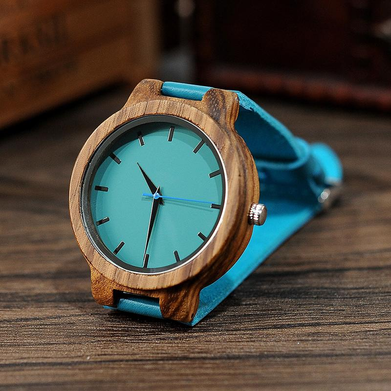 Light Ebony Watch - Aqua Dial (Men and Women Variations)