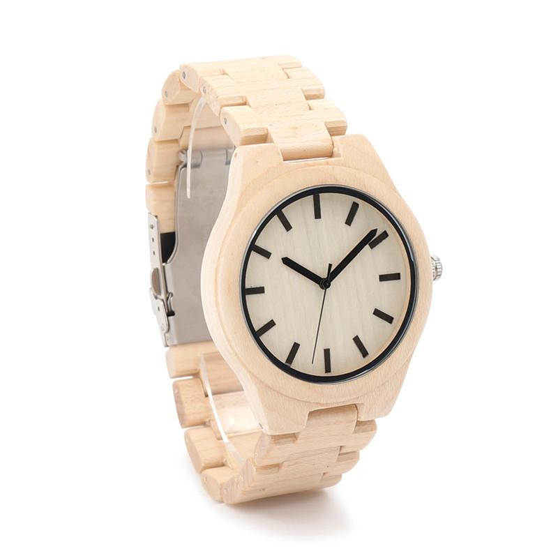 Maple Wood Watch - White Maple Dial - Timber Watch Co.