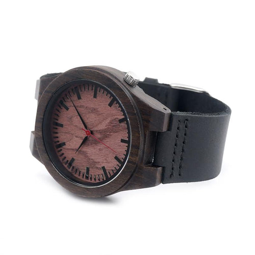Ebony Wood Watch - Redwood Dial - Timber Watch Co.