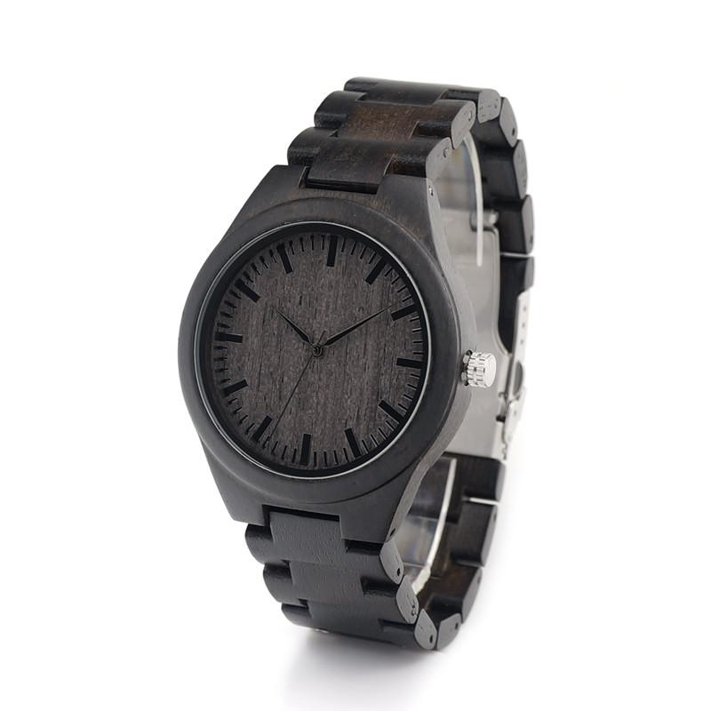 Ebony Wood Watch - Ebony Dial - Timber Watch Co.