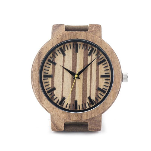 Dark Wood Watch - Striped Dial - Timber Watch Co.