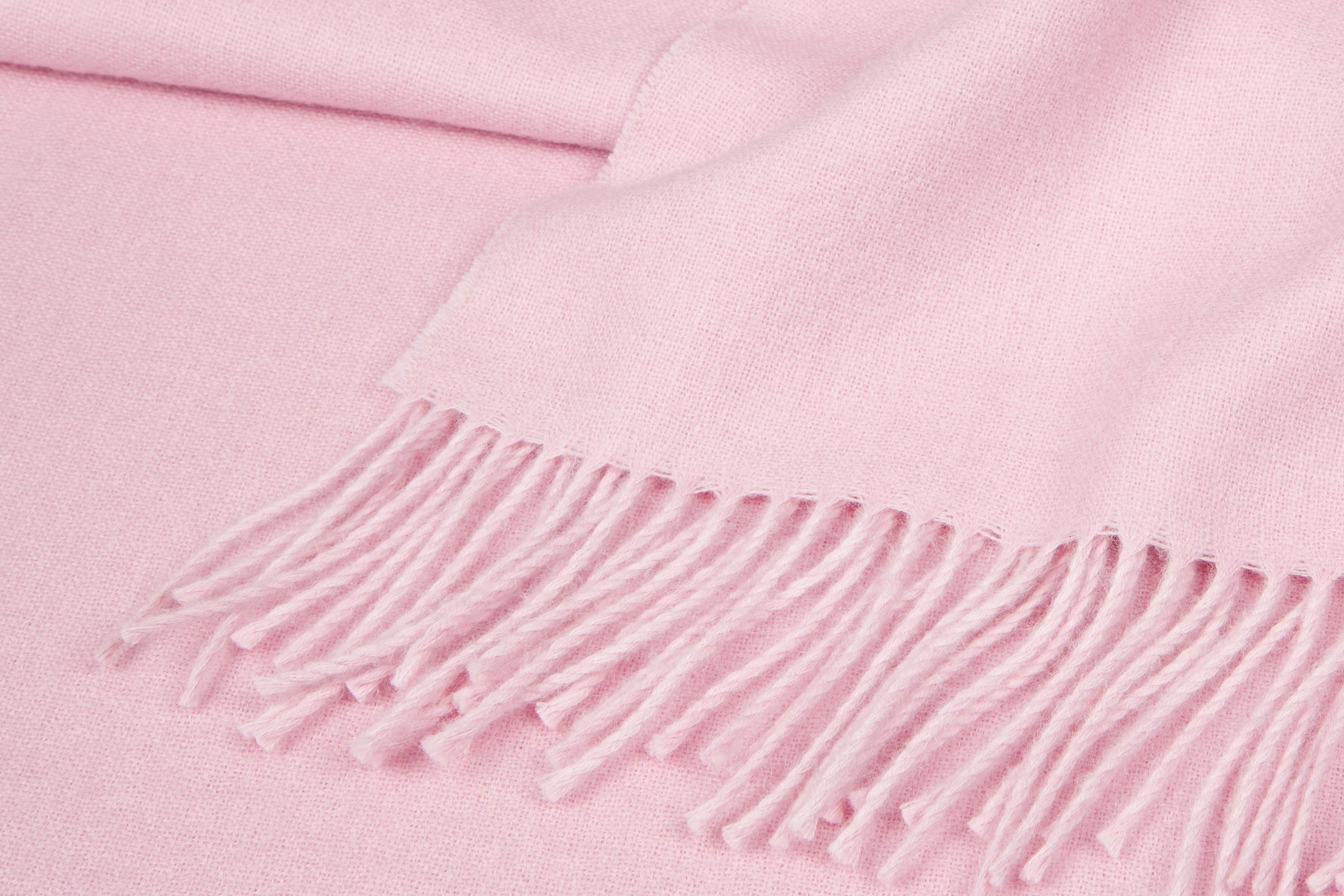 Detail of Pink Baby Alpaca throw