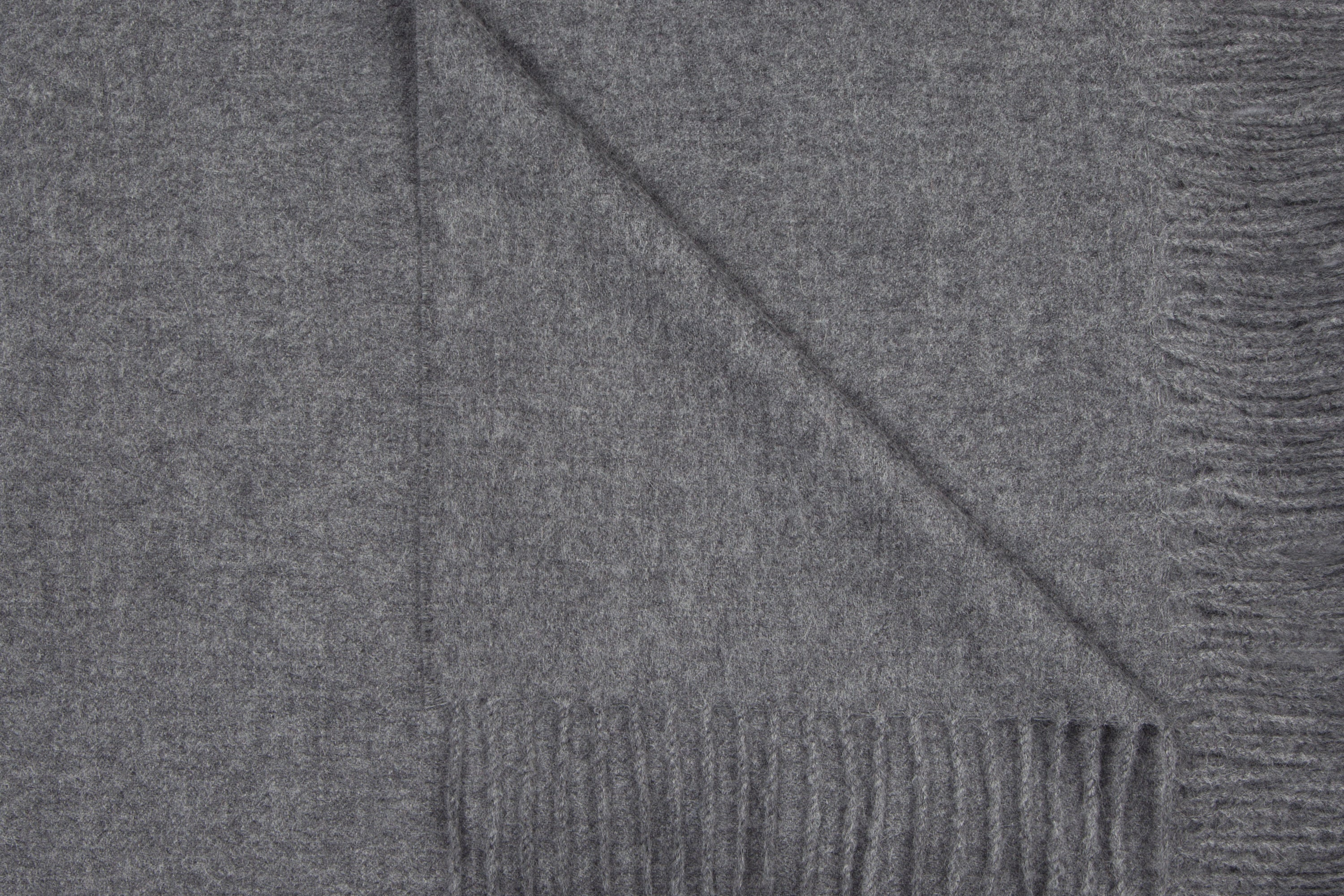 Medium Grey alpaca throw