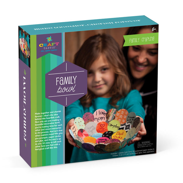 Craft-tastic Make Together Family Bowl Kit- Fall 2017