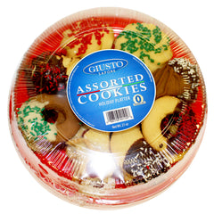 giusto sapore assorted holiday cookie platter - premium italian gourmet brand - imported from italy and family owned