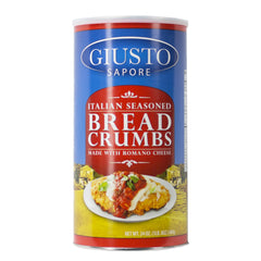 giusto sapore italian seasoned bread crumbs 24oz - imported from italy and family owned