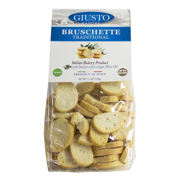 Giusto Sapore Premium Gourmet Traditional Bruschette 7.1oz. with Italian Extra Virgin Oil