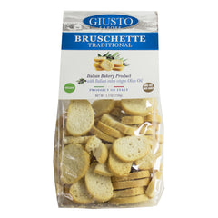 giusto sapore premium gourmet traditional bruschette 7.1oz. with italian extra virgin oil- imported from italy and family owned