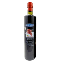 giusto sapore dark balsamic vinegar 1.14/6% 25oz - premium italian gluten free gourmet brand - imported from italy and family owned