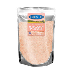 giusto sapore himalayan pink salt- fine bag 16oz - imported from italy and family owned