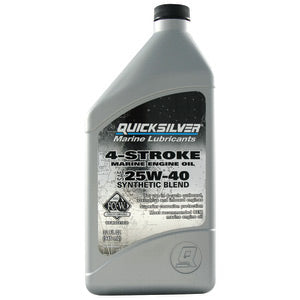 QUICKSILVER 4-STROKE MARINE ENGINE OIL 25W40 SYNTHETIC BLEND