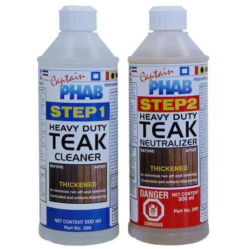 Captain Phab 2 Part Heavy Duty Teak Cleaner
