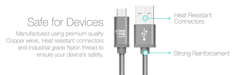 Micro USB Android Charging Data Sync Nylon Braided Cable