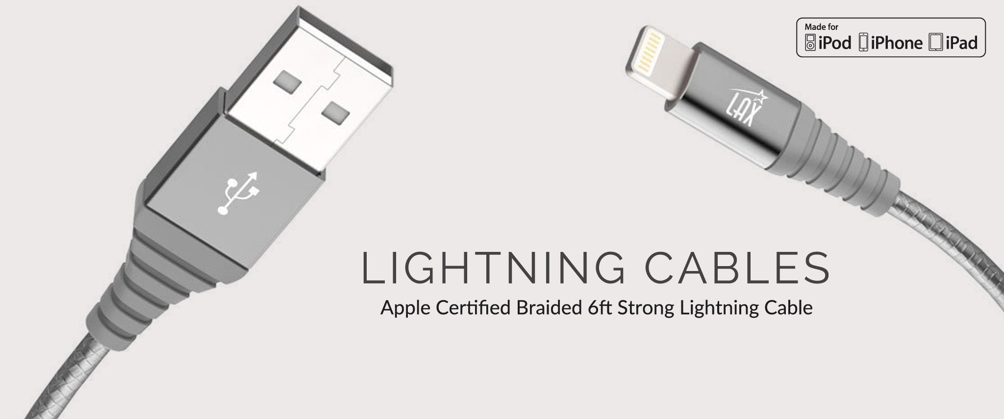 Apple Certified Braided 6ft Lightning Cable
