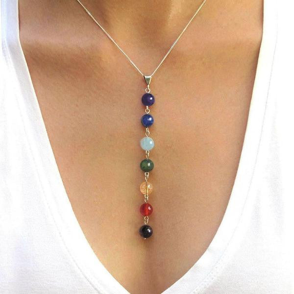 ***FREE*** Reiki Healing Yoga Chakra Necklace for Women