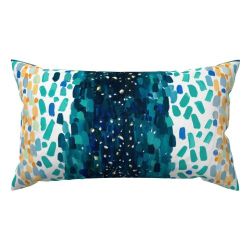 Meteor Shower Outdoor Lumbar Pillow