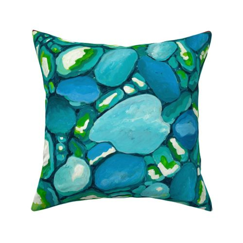 Leland Blue Outdoor Square Pillow