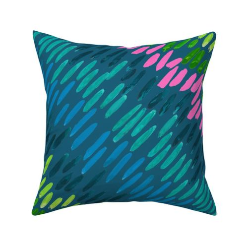 Nightfall Northern Lights Outdoor Square Pillow
