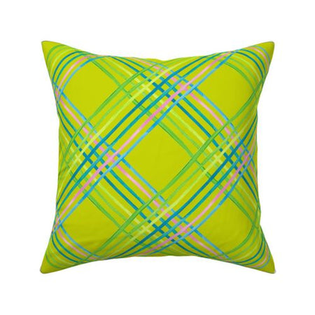 Citron Light Shine Outdoor Square Pillow