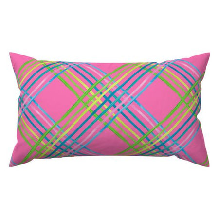 Azalea Light Shine Lumbar Down Pillow