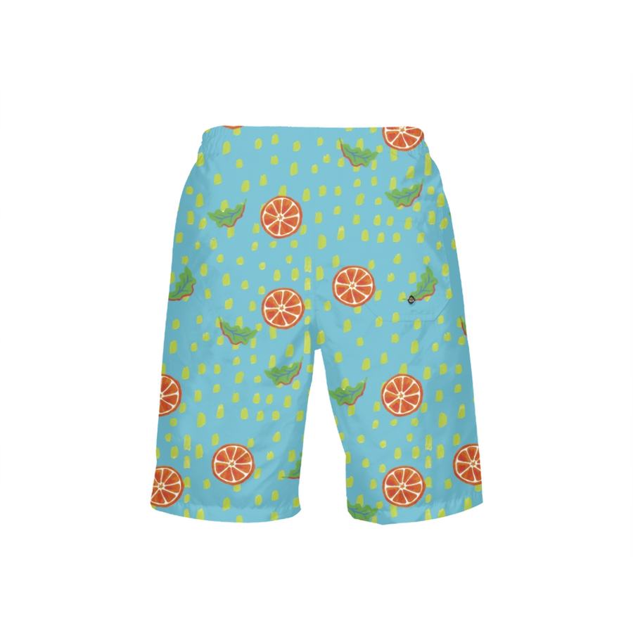 Waterfall Citrus Boy's Swim Trunks