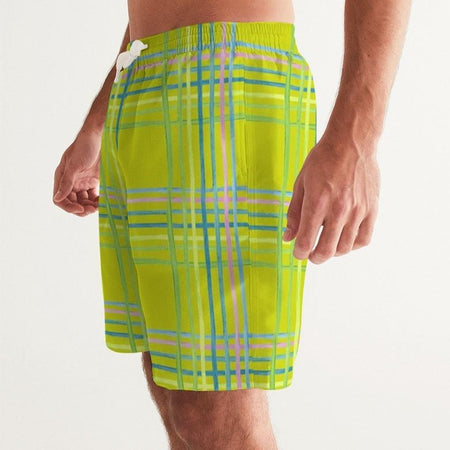 Citron Light Shine Men's Swim Trunks