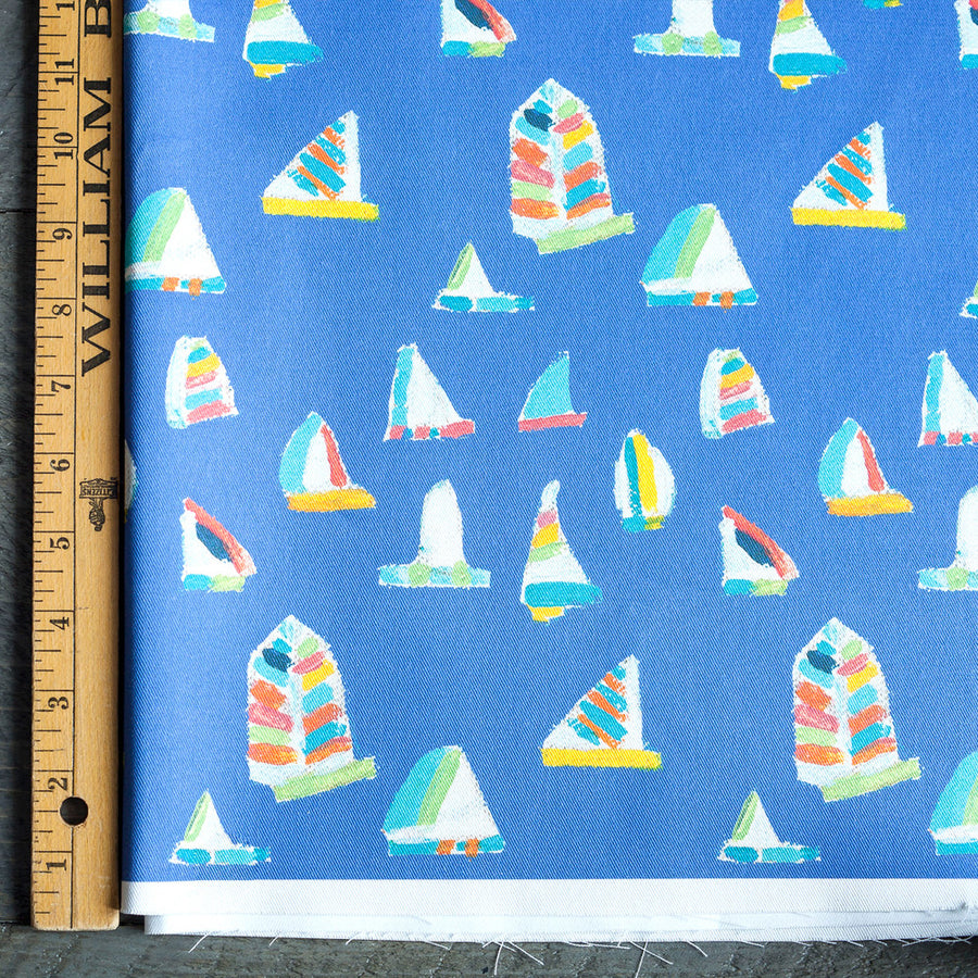 French Blue Summer Sail Fabric