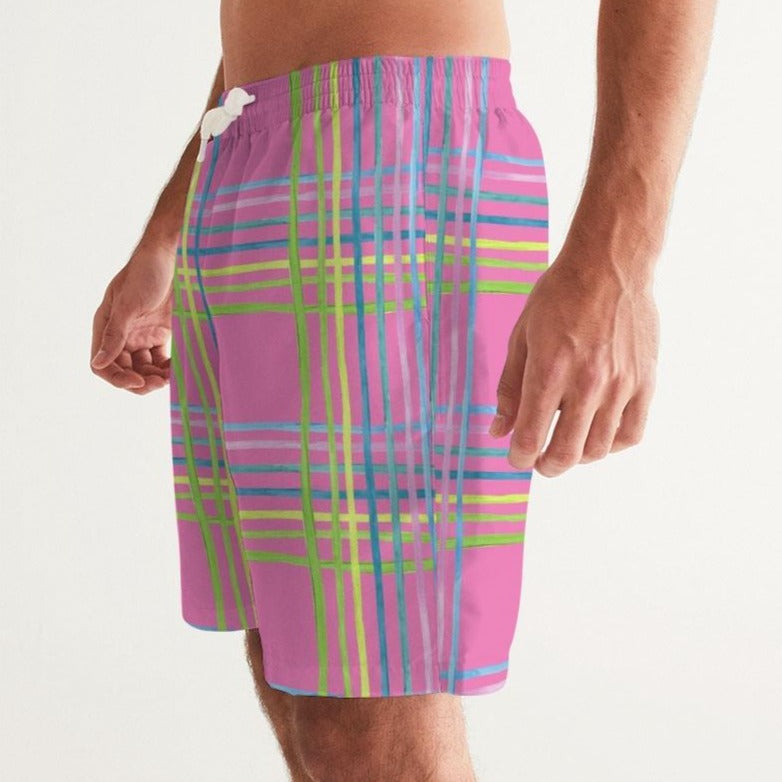 Azalea Light Shine Men's Swim Trunks